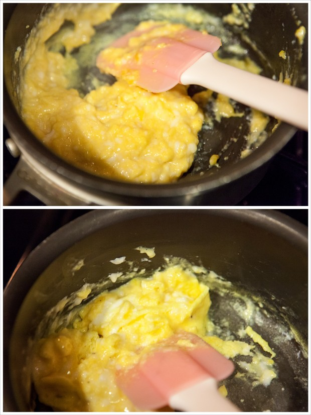 Slow-Scrambled Eggs | spachethespatula.com #recipe