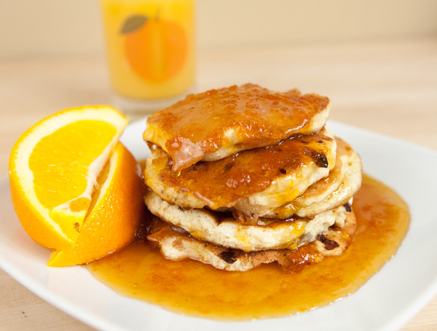 Cottage Cheese Pancakes with Spiced Orange Maple Syrup | Spache the ...