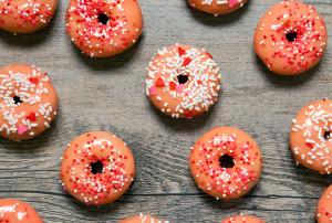 Baked Rose Water Donuts with White Chocolate Glaze   spachethespatula.com #recipe