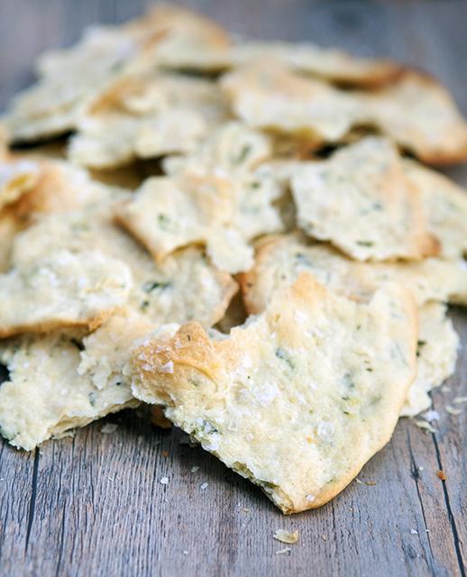 Rosemary & Sea Salt Flatbread Crackers