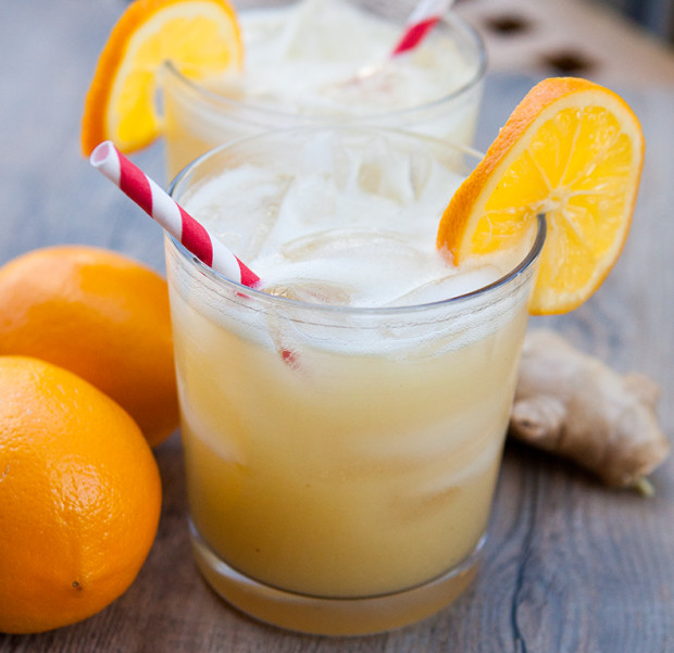 Spicy Ginger Meyer Lemonade | spachethespatula.com #recipe