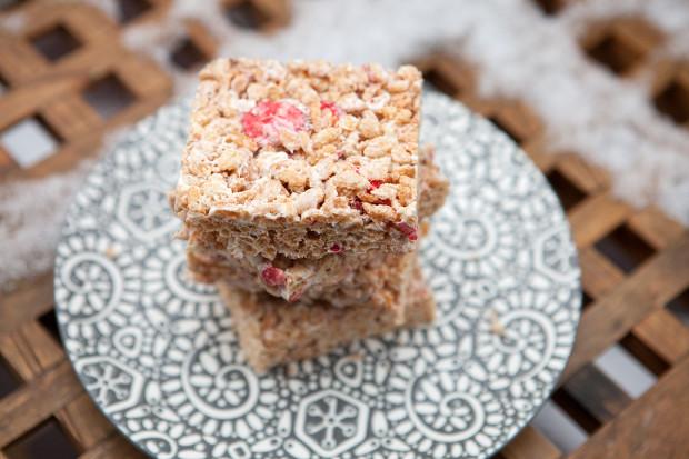 Strawberries & Cream Rice Crispies