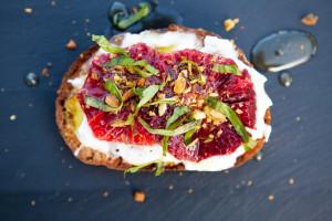Blood Orange and Burrata Tartine | spachethespatula.com #recipe