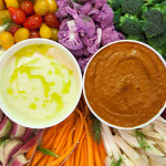 How To: Make the Best Veggie Tray Ever (with Garlicky Dip & Romesco) | spachethespatula.com