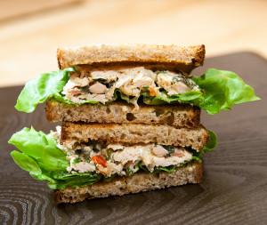 Chicken Salad with Pickled Vegetables | spachethespatula.com #recipe