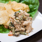 Chicken Salad with Pickled Vegetables | spachethespatula.com #recipe