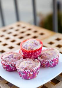 Blackberry Muffins with Lemon Glaze | spachethespatula.com #recipe