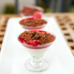 Vanilla Bean Panna Cotta with Blood Orange Syrup and Chocolate Cookie Crumble | spachethespatula.com #recipe