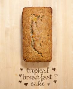 Tropical Breakfast Cake   spachethespatula.com #recipe #vegan