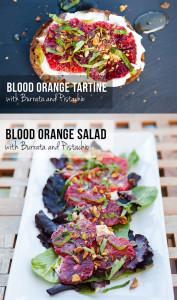 Blood Orange with Burrata and Pistachio: 2 Ways | spachethespatula.com #recipe