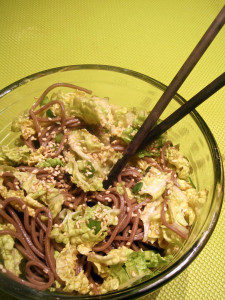 Sesame Soba Noodles with Napa Cabbage