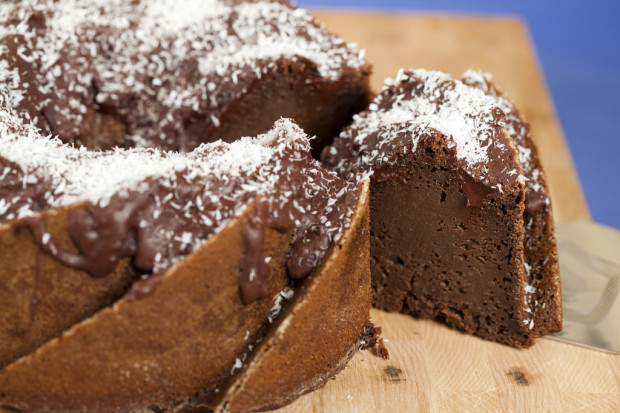 Salted Coconut-Chocolate Bundt Cake