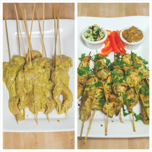 Chicken Satay (Sa-Te Kai) | spachethespatula.com #recipe