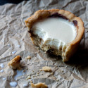 Chocolate Chip Cookie Cups with Panna Cotta Milk