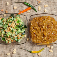 Peanut Sauce and Cucumber Relish7