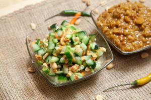 Peanut Sauce (Naam Sa-Te) and Cucumber Relish (Ajat)   spachethespatula.com #recipe