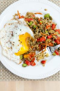 Pesto Fried Rice   spachethespatula.com #recipe