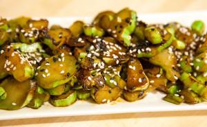 Stir-Fried Broccoli Stems | spachethespatula.com #recipe