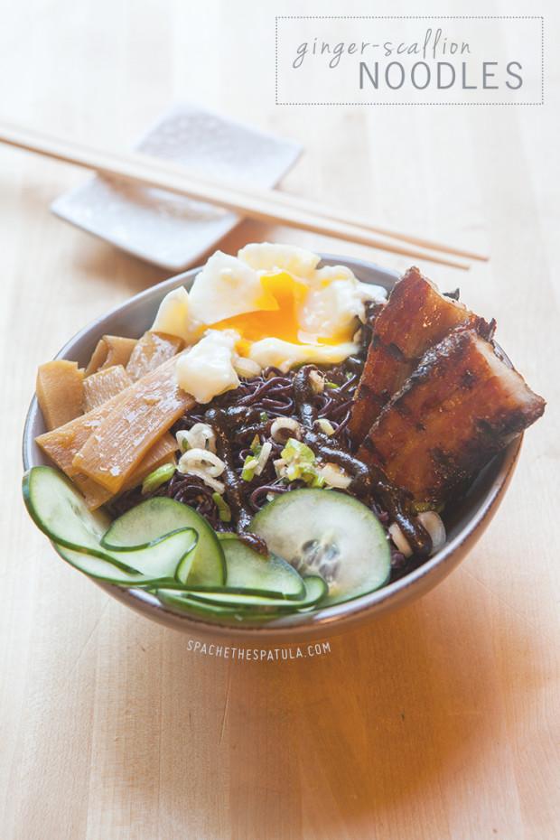 Ginger-Scallion Noodles | spachethespatula.com #recipe
