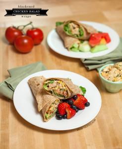 Blackened Chicken Salad Wraps | spachethespatula.com #recipe
