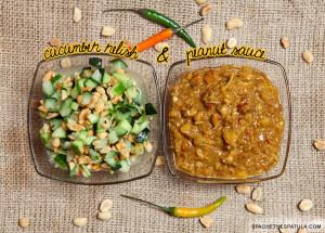Peanut Sauce (Naam Sa-Te) and Cucumber Relish (Ajat) | spachethespatula.com #recipe