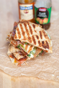 Brie and Prosciutto Panini with Mango Chutney | spachethespatula.com #recipe
