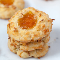 Ina's Coconut Thumbprint Cookies | spachethespatula.com #recipe