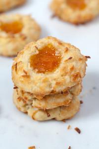 Ina's Coconut Thumbprint Cookies   spachethespatula.com #recipe