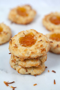 Ina's Coconut Thumbprint Cookies | spachethespatula.com #recipe