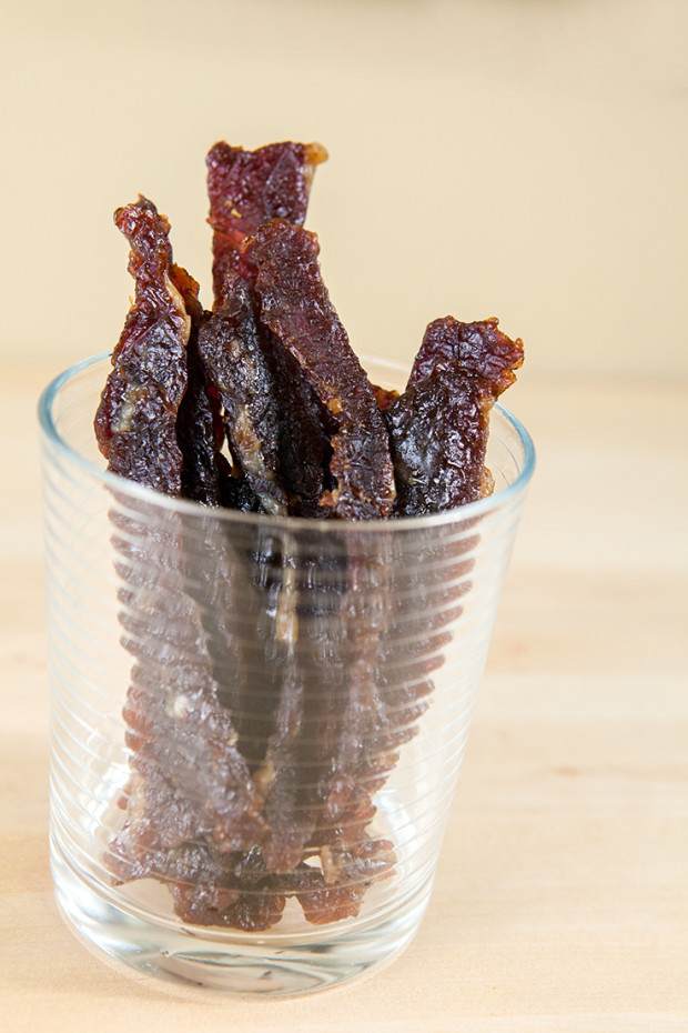 Spicy-Teriyaki Beef Jerky | spachethespatula.com #recipe