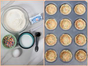 Funfetti Cookie Cups filled with Strawberry Milkshake Panna Cotta | spachethespatula.com #recipe