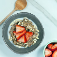 Spiced Banana Steel-Cut Oats | spachethespatula.com #recipe