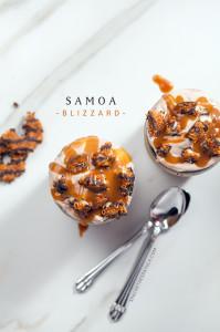 Samoa Blizzard | spachethespatula.com #recipe