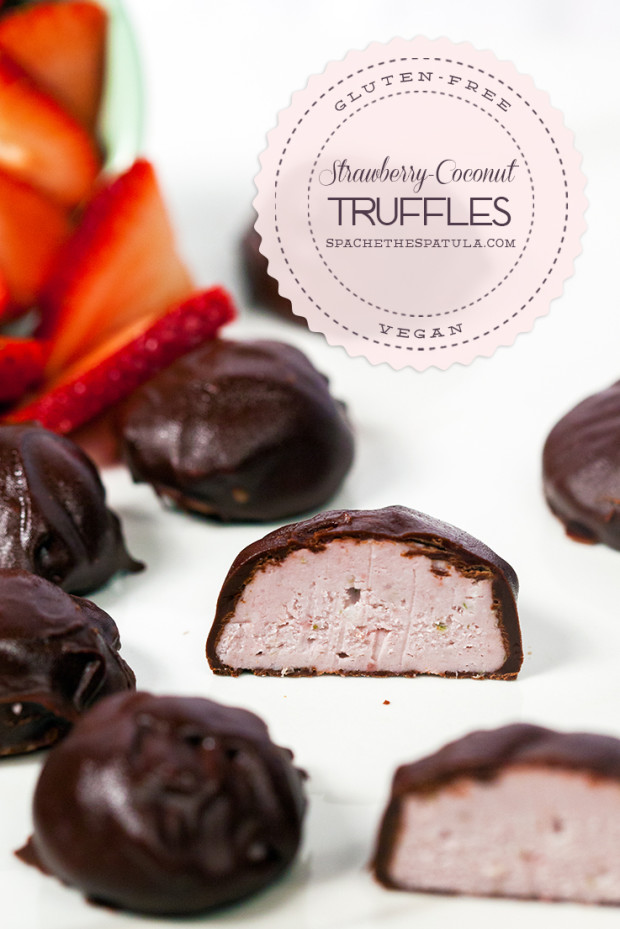 Strawberry-Coconut Truffles | spachethespatula.com #recipe