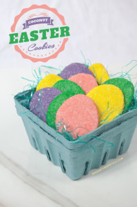 Coconut Easter Cookies | spachethespatula.com #recipe