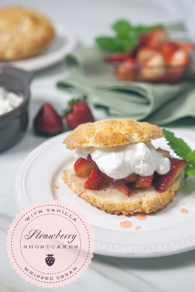 Strawberry Shortcakes | spachethespatula.com #recipe