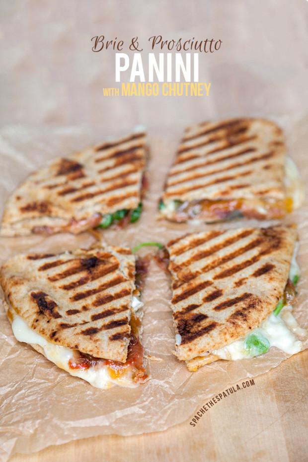Brie and Prosciutto Panini with Mango Chutney | spachethespatula.com #recipe