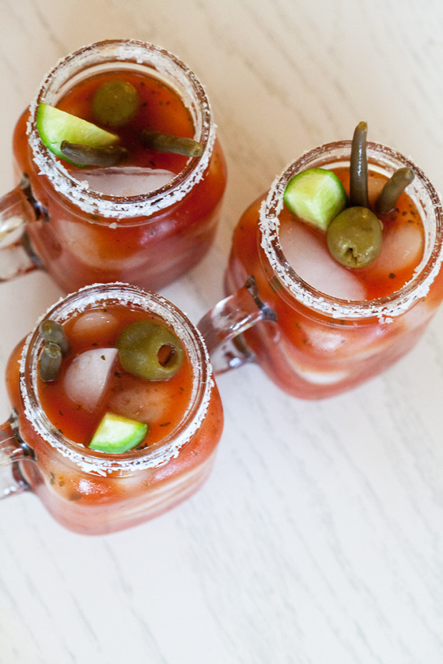 Mediterranean Bloody Marys | spachethespatula.com #recipe