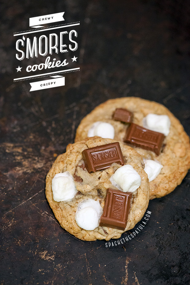 S'mores Cookies | spachethespatula.com #recipe