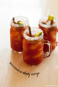 Mediterranean Bloody Marys   spachethespatula.com #recipe