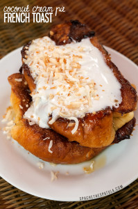 Coconut Cream Pie French Toast | spachethespatula.com #recipe
