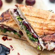 Balsamic Cherry and Shaved Asparagus Panini | spachethespatula.com #recipe