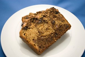 Dark Chocolate Peanut Butter Banana Bread | spachethespatula.com