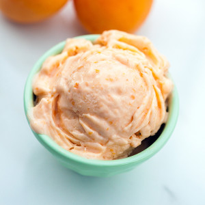 Honey Apricot Frozen Yogurt | spachethespatula.com #recipe