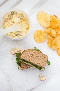 Radish & Basil Egg Salad | spachethespatula.com #recipe