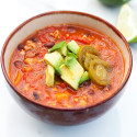 Skinny Turkey Chili | spachethespatula.com #recipe