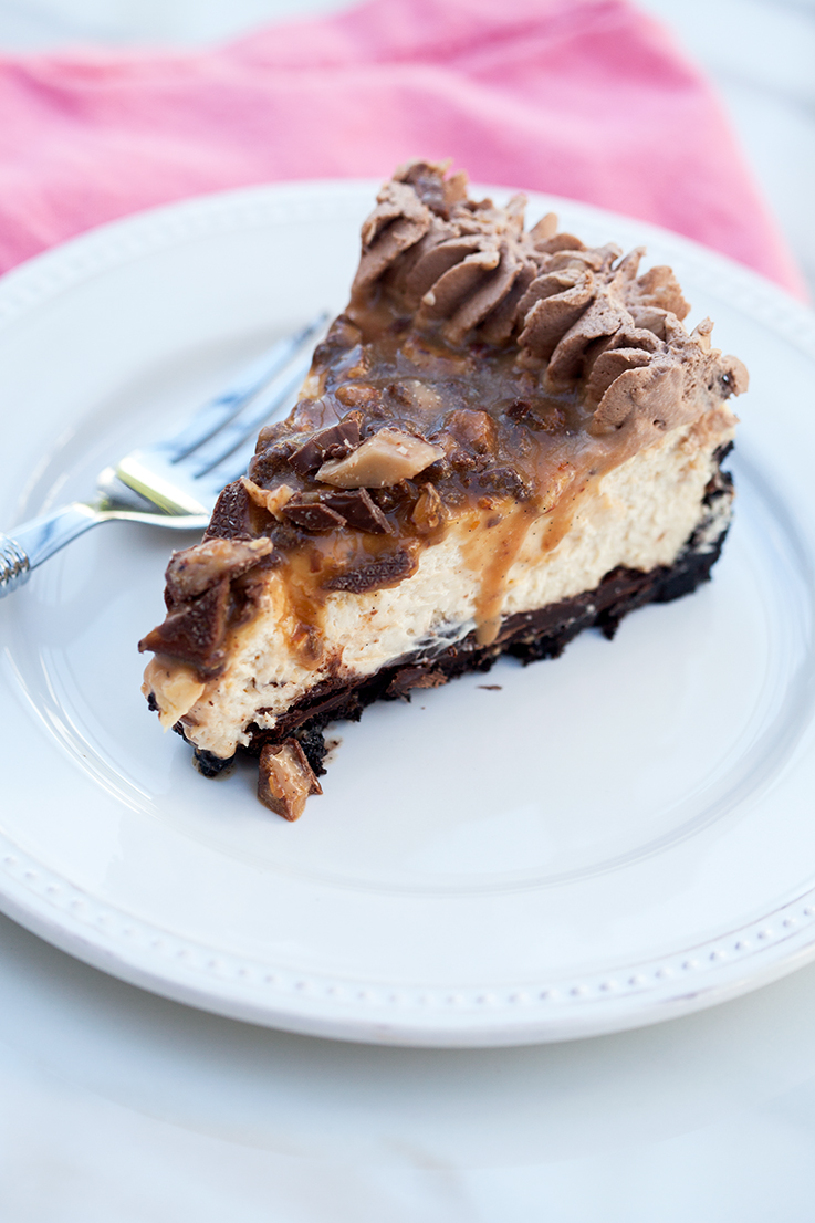 Chocolate Toffee Caramel Cheesecake