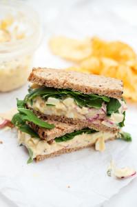 Radish & Basil Egg Salad   spachethespatula.com #recipe