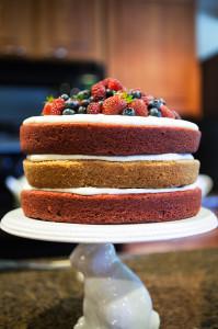 Red, White, and Blue Cake | spachethespatula.com #recipe