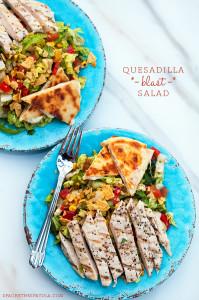 Quesadilla Blast Salad | spachethespatula.com #recipe